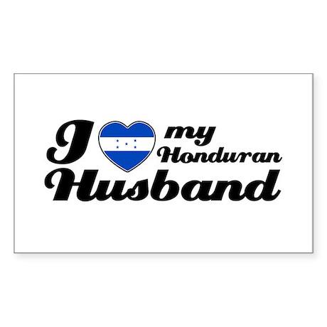 I love my Honduran Husband Rectangle Sticker