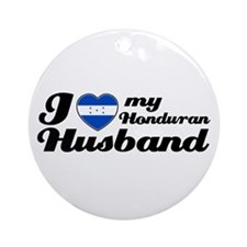 I love my Honduran Husband Ornament (Round)