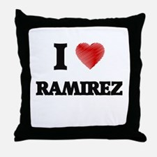 I Love Ramirez Throw Pillow