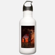 Brachiosaurus disappear in a cave Water Bottle