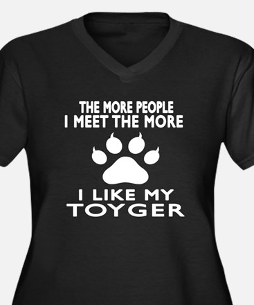 I Like My To Women's Plus Size V-Neck Dark T-Shirt