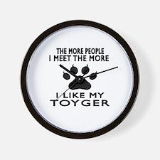 I Like My Toyger Cat Wall Clock