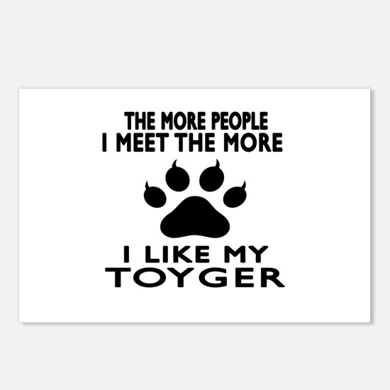 I Like My Toyger Cat Postcards (Package of 8)