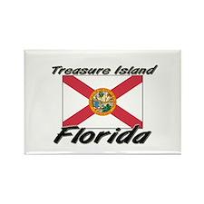 Treasure Island Florida Rectangle Magnet