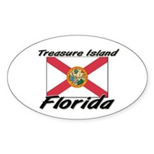 Treasure Island Florida Oval Decal