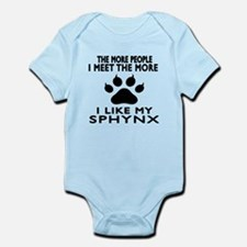 I Like My Sphynx Cat Infant Bodysuit