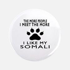 I Like My Somali Cat Button