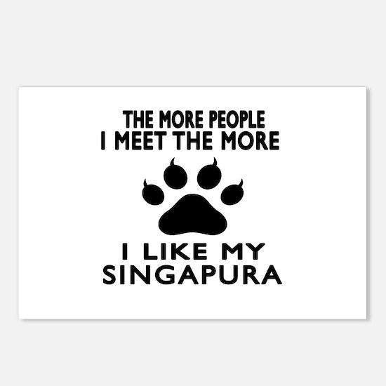 I Like My Singapura Cat Postcards (Package of 8)