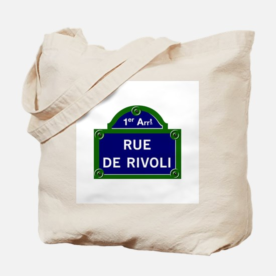 Rue de Rivoli, Paris - France Tote Bag