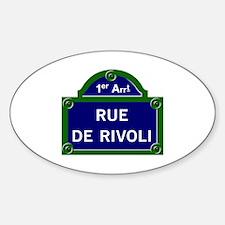 Rue de Rivoli, Paris - France Oval Decal