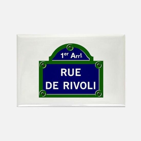 Rue de Rivoli, Paris - France Rectangle Magnet