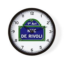 Rue de Rivoli, Paris - France Wall Clock