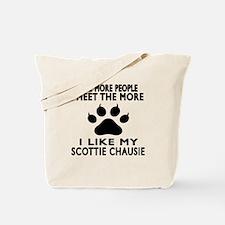 I Like My Scottie chausie Cat Tote Bag