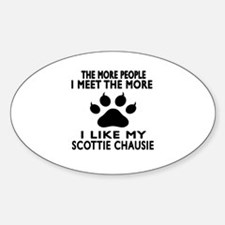 I Like My Scottie chausie Cat Decal