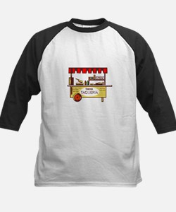 Taco Stand Taqueria Stand Woodcut Baseball Jersey
