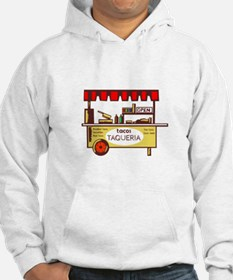 Taco Stand Taqueria Stand Woodcut Hoodie