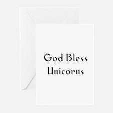 God Bless Unicorns Greeting Cards (Pk of 10)