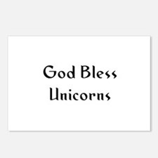 God Bless Unicorns Postcards (Package of 8)