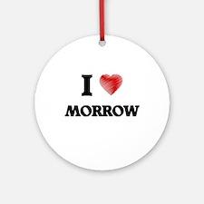 I Love Morrow Round Ornament