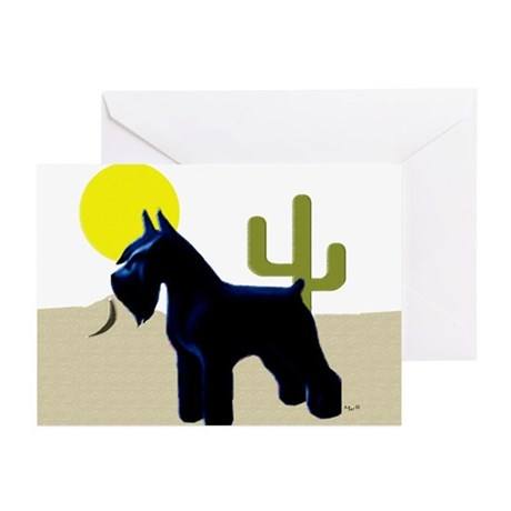 giant schnauzer in desert scene(Pk of 10)