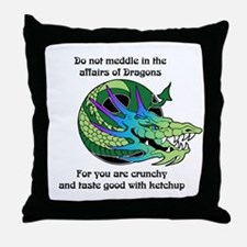 Dragon Crunchies Throw Pillow
