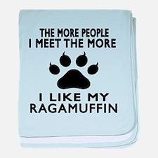 I Like My Ragamuffin Cat baby blanket