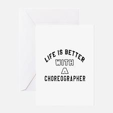 Choreographer Designs Greeting Card