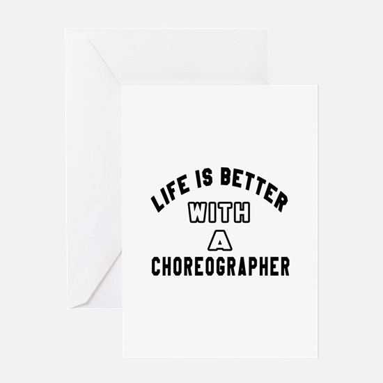 Choreographer Designs Greeting Card
