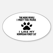 I Like My Norwegian Forest Cat Cat Decal