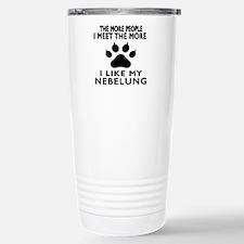 I Like My Nebelung Cat Travel Mug