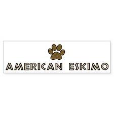 American Eskimo (dog paw) Bumper Bumper Sticker