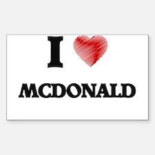 I Love Mcdonald Decal