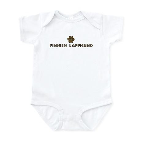Finnish Lapphund (dog paw) Infant Bodysuit