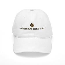 Alaskan Klee Kai (dog paw) Baseball Cap