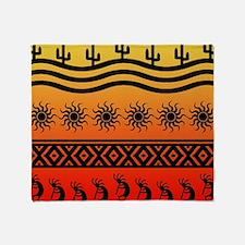 Ombre Southwest Kokopelli Throw Blanket