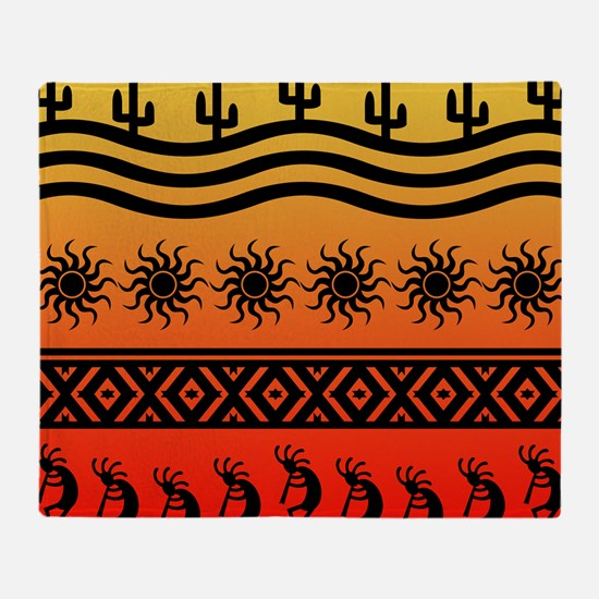 Ombre Southwest Kokopelli Throw Blanket