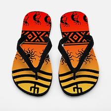 Ombre Southwest Kokopelli Flip Flops