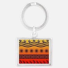 Ombre Southwest Kokopelli Keychains