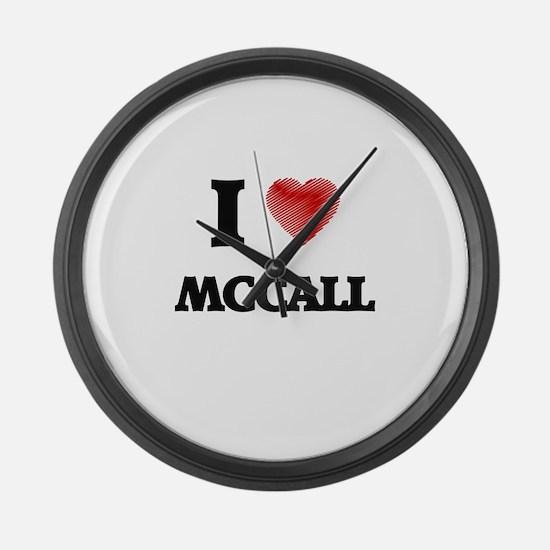 I Love Mccall Large Wall Clock