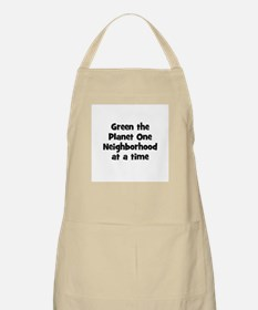 Green the Planet One Neighbor BBQ Apron