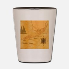 Vintage Nautical Florida Keys Map Shot Glass