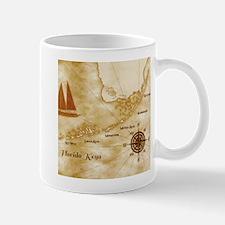 Vintage Nautical Florida Keys Map Mugs