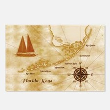 Cute Vintage sail ship Postcards (Package of 8)