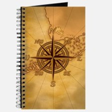 Antique Style Compass Rose Journal
