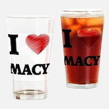 Cute Macy Drinking Glass