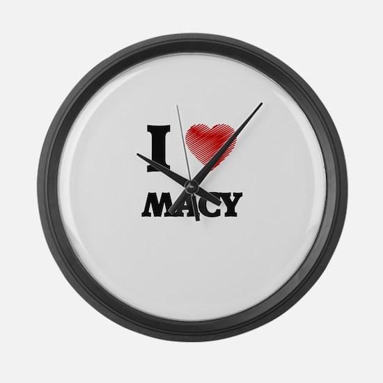 I Love Macy Large Wall Clock