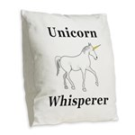 Unicorn Whisperer Burlap Throw Pillow
