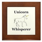 Unicorn Whisperer Framed Tile