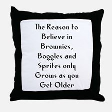 The Reason to Believe in Brow Throw Pillow