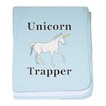Unicorn Trapper baby blanket